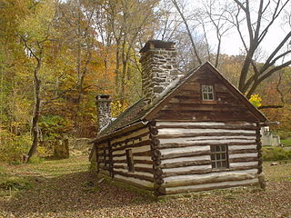 Lower Swedish Cabin building in Pennsylvania, United States
