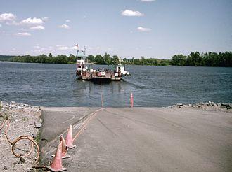 Jemseg, New Brunswick - Image: Lower Jemseg ferry