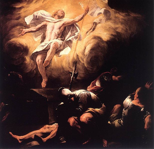 Resurrection, by Luca Giordano, after 1665