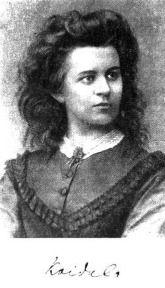 Lydia Koidula - Lydia Koidula. Same image was used on an Estonian banknote