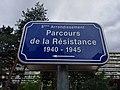 Lyon 8e - Parcours de la Résistance 1940-1945 - Panneau (mai 2019).jpg