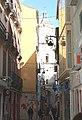 """Málaga, the street """"Calle San Juan"""" and the San Juan Church.JPG"""