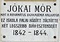 Mór Jókai plaque Kecskemét Kálvin tér1.jpg