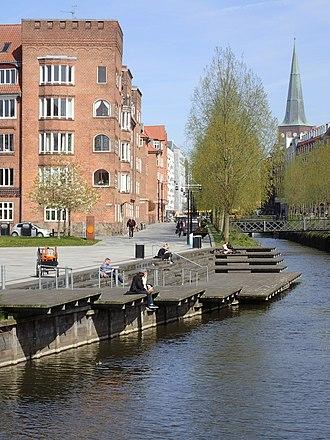 Åboulevarden - Image: Mølleparken (åen)