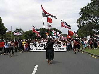 Waitangi Day - Māori protestors in 2006