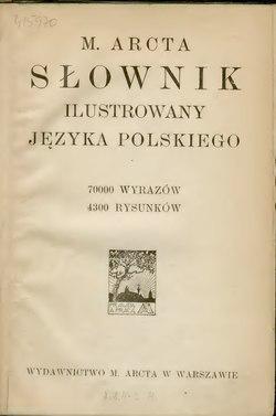 M Arcta Słownik Ilustrowany Języka Polskiegotom Icałość