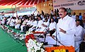 M. Venkaiah Naidu addressing the gathering at the launch of Swachh Survekshan 2017 & WOW Hyderabad, in Hyderabad.jpg