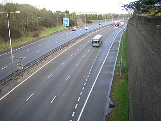 Transport in Luton - Junction 11 on the M1, one of two junctions for Luton.