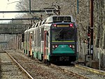 MBTA 3877 near Hammond Pond Parkway, March 2016.JPG