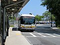 MBTA route 713 bus at Orient Heights station, August 2018.JPG
