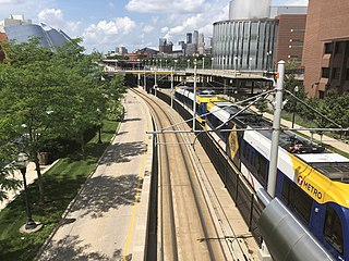 light rail and bus rapid transit system in the Twin Cities region of Minnesota