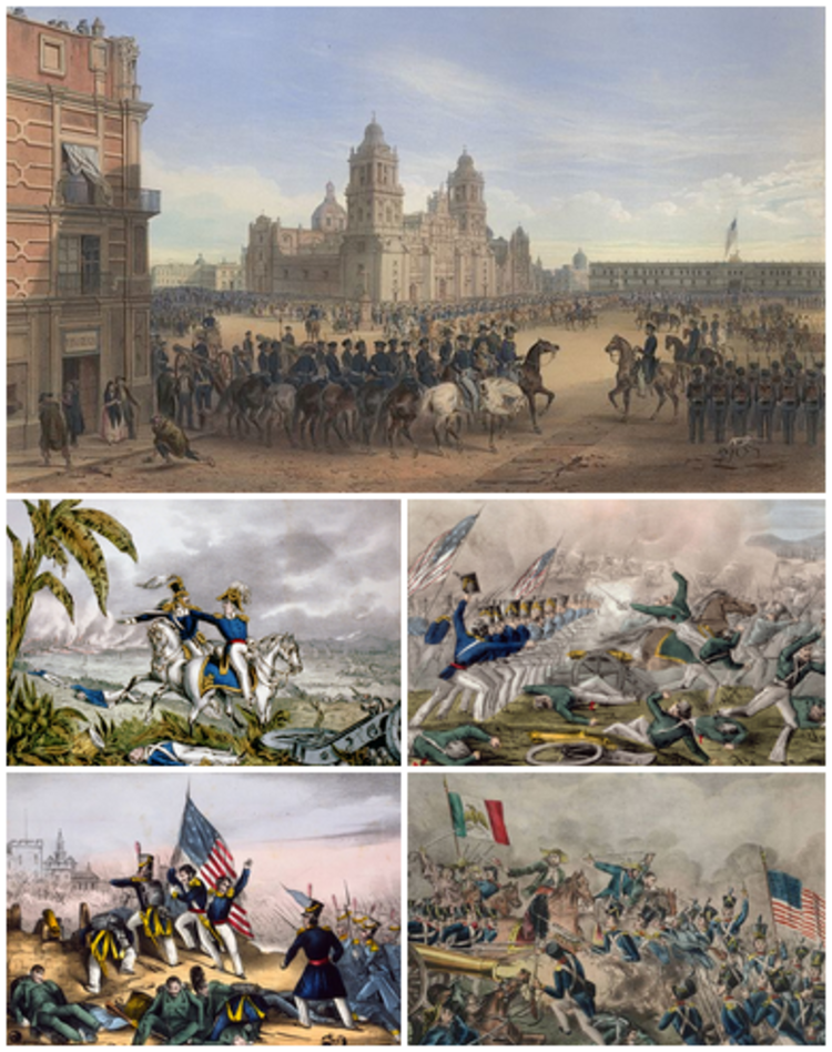 Collection of pictures of the Mexican-American War