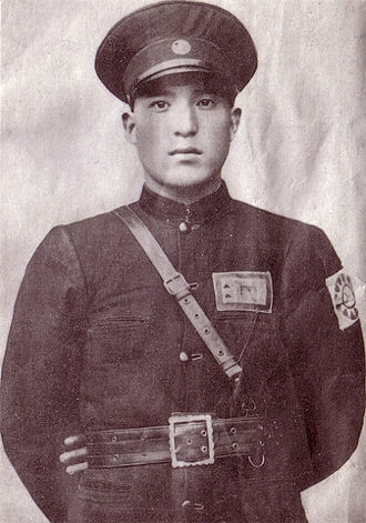 Kumul Rebellion - Gen. Ma Zhongying, KMT 36th Division Chief. He is wearing a Kuomintang armband like many of his troops did.