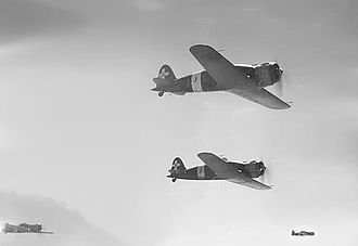 Macchi C.200 - Formation of the Macchi 200 bomber escort, probably on a mission to Malta and Tobruk.