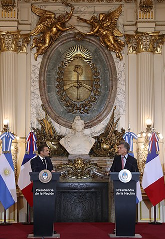 Argentina–France relations - President Mauricio Macri and President Emmanuel Macron in Buenos Aires, 2018.