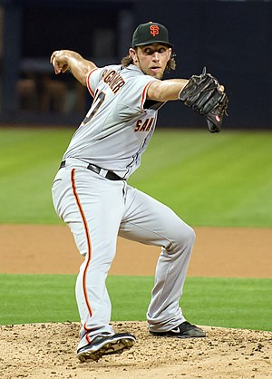 Madison Bumgarner - Bumgarner pitching at Petco Park in 2013