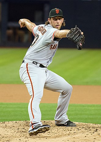 League Championship Series Most Valuable Player Award - Image: Madison Bumgarner on September 3, 2013