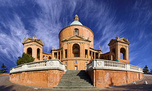 Sanctuary of the Madonna di San Luca - The sanctuary of the Virgin of Saint Luke on the top of the Colle della Guardia