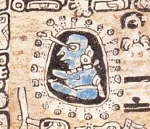 Maya astronomy - Image: Madrid Codex astronomer