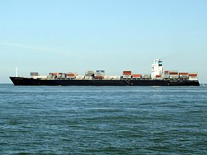 Maersk Dauphin p3, leaving Port of Rotterdam, Holland 10-Sep-2006.jpg