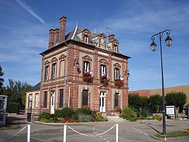 The townhall of Jouy-sur-Eure