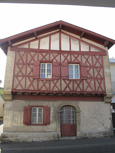 "The ""Maison du Rey"" (=House of the king), Boulevard Jean Lartigau, in Capbreton (Landes, France), where the king Henry IV of France lived in 1583"