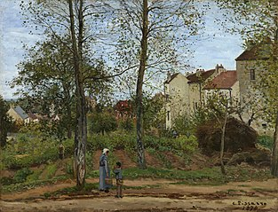 Maisons à Bougival, automne (Houses at Bougival, Autumn)