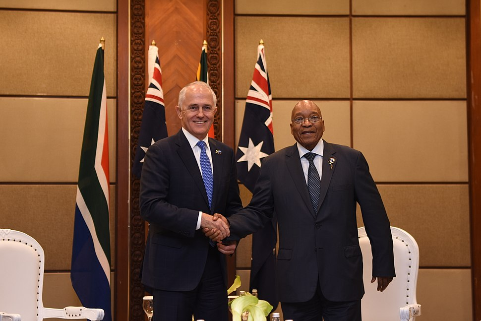 Malcolm Turnbull and Jacob Zuma in Jakarta 2017 11