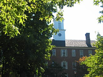 Ohio University - Manasseh Cutler Hall, completed in 1819, was the first academic building in the Northwest Territory.