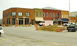 Commercial block on the courthouse square