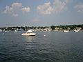Manhasset Bay Yacht Club and Moored Boats 2.jpg