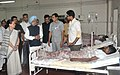 Manmohan Singh visited J J Hospital to enquire the health of bomb blast victims, in Mumbai. The Chairperson, National Advisory Council, Smt. Sonia Gandhi and the Chief Minister of Maharashtra.jpg