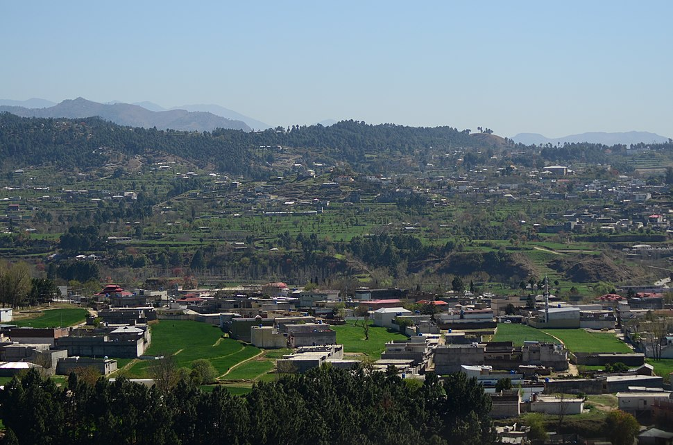 Mansehra is surrounded by verdant mountains