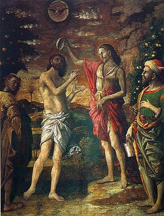 Mantegna funerary chapel - Mantegna and studio, Baptism of Christ
