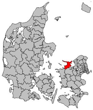 Odsherred Municipality - Image: Map DK Odsherred