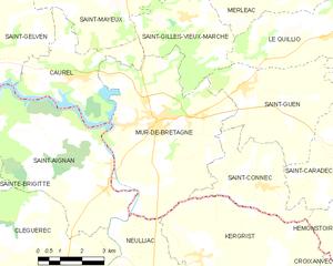 Mûr-de-Bretagne - Map of the former commune