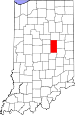 Map of Indiana highlighting Madison County.svg