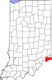 Map of Indiana highlighting Switzerland County.svg