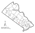 Map of Ivyland, Bucks County, Pennsylvania Highlighted.png