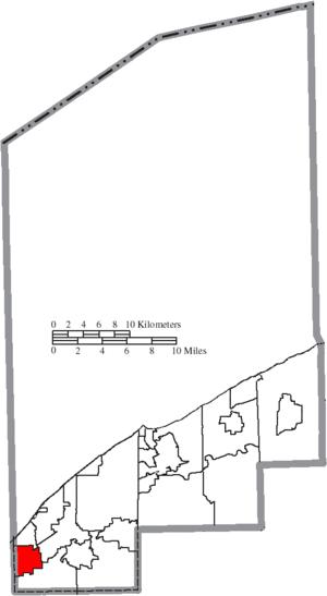 Wickliffe, Ohio - Image: Map of Lake County Ohio Highlighting Wickliffe City