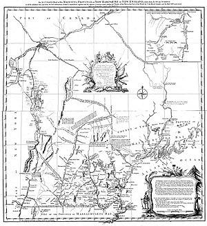 Joseph Blanchard - Image: Map of New Hampshire, Blanchard Langdon, 1761