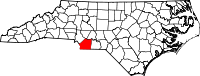Map of North Carolina highlighting Union County