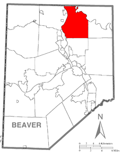 Map of Beaver County, Pennsylvania highlighting North Sewickley Township
