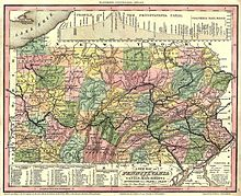 List Of Counties In Pennsylvania Wikipedia - Pennsylvania counties map