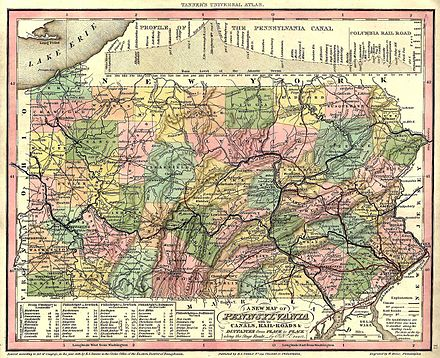 List Of Counties In Pennsylvania Wikiwand - Banshee Pennsylvania On Us Map