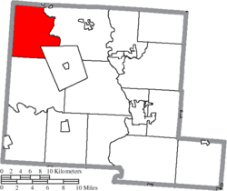 Location of Darby Township in Pickaway County