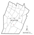 Map of Rainsburg, Bedford County, Pennsylvania Highlighted.png