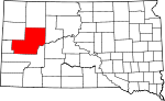 State map highlighting Meade County
