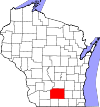 State map highlighting Dane County