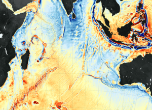 Seafloor mapping - A seafloor map captured by NASA